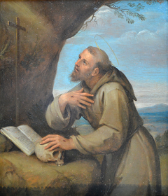 St. Francis of Assisi in Prayer before a Crucifix