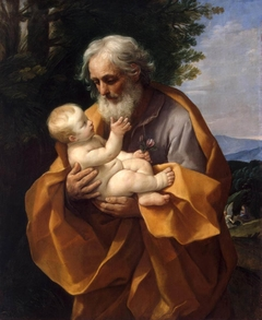 St Joseph with Infant Christ in his Arms