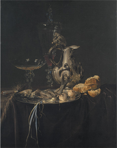 Still Life. Breakfast Piece with a Silver Jug