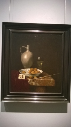 Still life with a pipe nuts and tobacco
