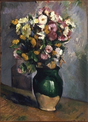 Still Life with Flowers in an Olive Jar