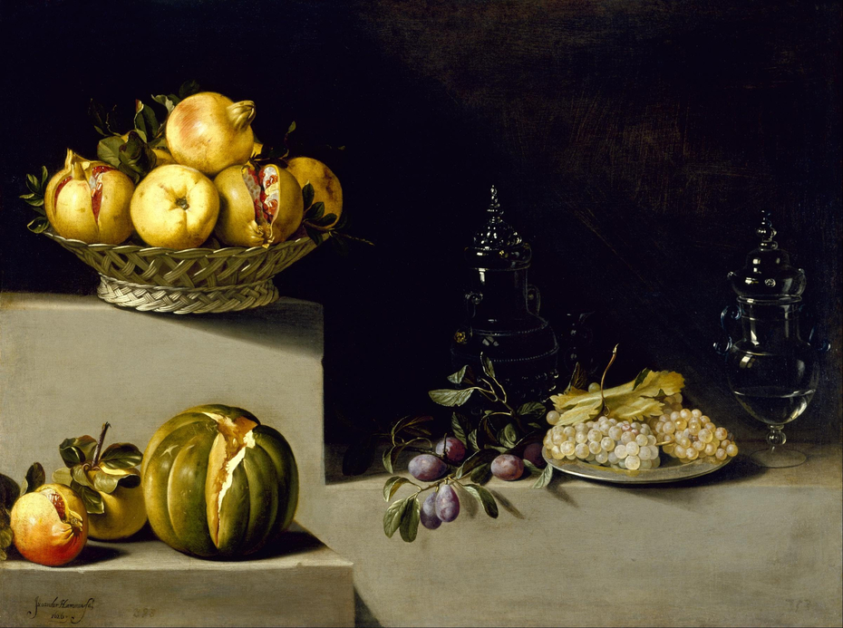 Still Life with Fruit and Glassware