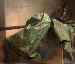 Still-Life with Silk Drapery and a Helmet