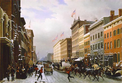 Street in New York, 1840