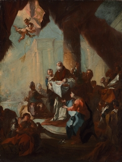 "Study for ""The Presentation of Christ in the Temple"" (for Saint Ulrich, Vienna)"