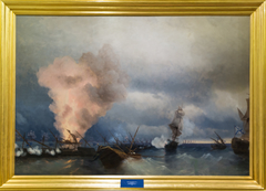 The Battle of Vyborg Bay in 1790.
