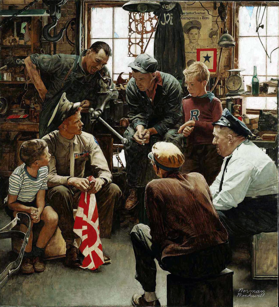 Christmas Homecoming Rockwell.The Homecoming Marine Norman Rockwell Artwork On Useum