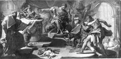 The St. Eustace refuses idolatry
