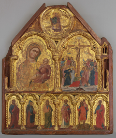 The Virgin and Child and the Crucifixion with Six Saints