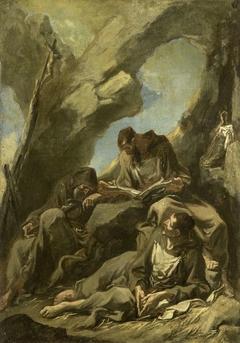 Three Camaldolese Monks in Meditative Prayer