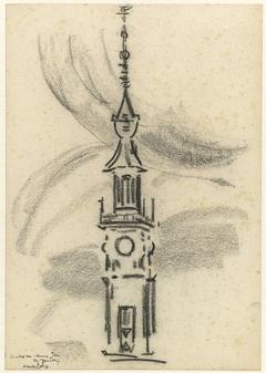 Toren van het stadhuis te Veere