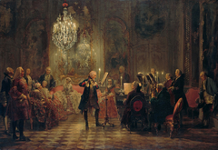 oncert for flute with Frederick the Great in Sanssouci