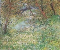 River Bank in Springtime / Banks of the Seine with the Pont de Clichy in the Spring