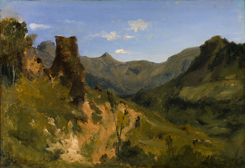 Valley in the Auvergne Mountains