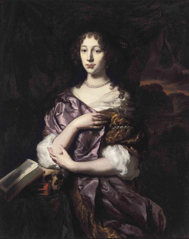 Vanitas portrait of a lady