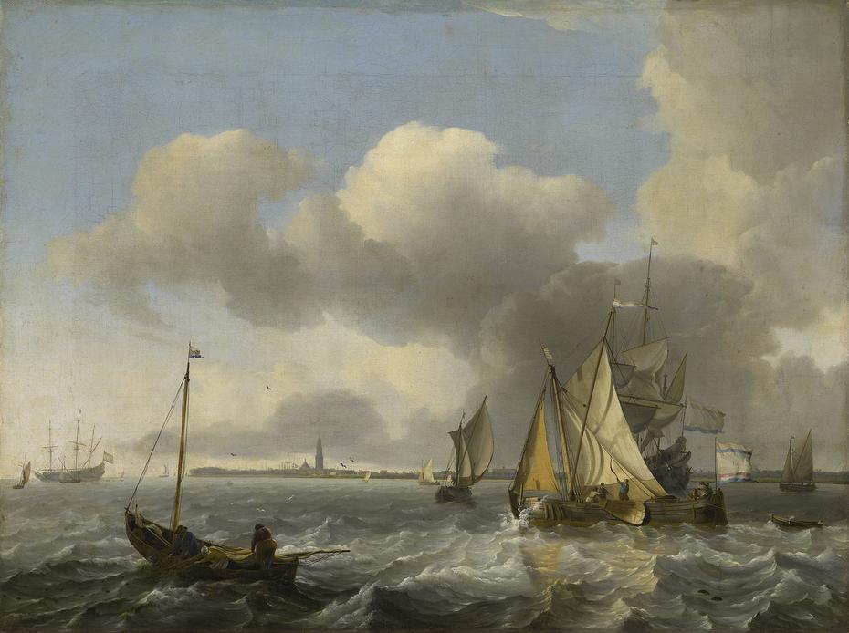 Vessels in a Breeze off Enkhuizen on the Zuider Zee