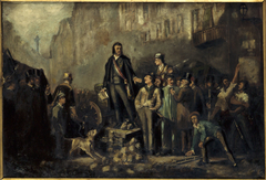 Victor Baudin (1811-1851) sur la barricade du faubourg Saint-Antoine, le 3 décembre 1851