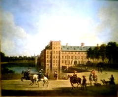 View of the Binnenhof in the Hague