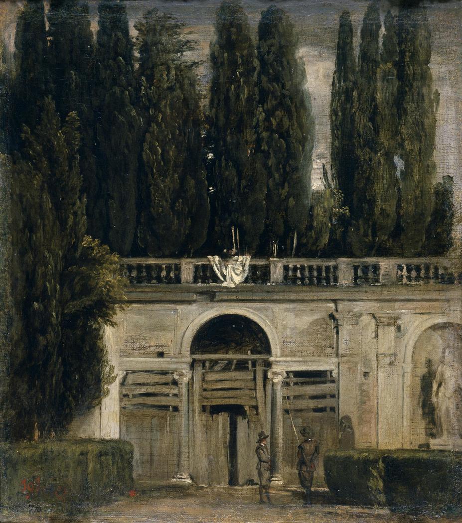 View of the Garden of the Villa Medici
