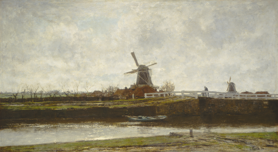View of the Mill and Bridge on the Noordwest Buitensingel in The Hague