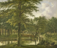 View of the Nieuwe Gracht near the Bolwerk, Haarlem