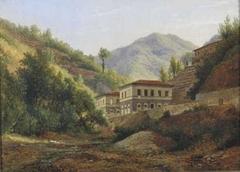 View of the Ospedale Demidoff in Bagni di Lucca