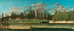 View of the Quai d' Asnières (Vue du quai d'Asnières); also called The Canal and Landscape with Tree Trunks (Le Canal and Paysage avec troncs d'arbre)