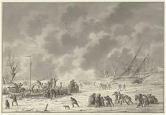 Vluchten van de Landzaten te Texel, december 1794