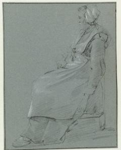 Vrouw met een glas in de hand