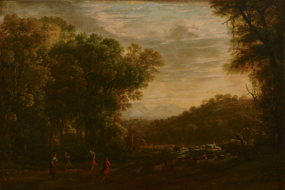 Wooded Landscape with Shepherds
