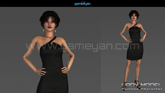 Young Woman Cartoon Character Modeling