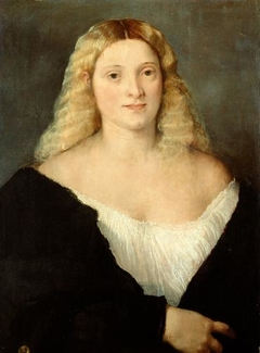 Young Woman in a Black Dress