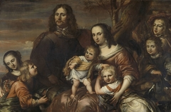 A couple with six children