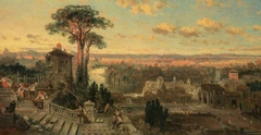 A Study for 'Rome: Sunset from the Convent of Sant' Onofrio on the Janiculum' (NG 304)