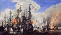 An Engagement between the English and the Dutch Fleets