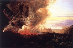 An Eruption of Vesuvius. Copy after J. C. Dahl