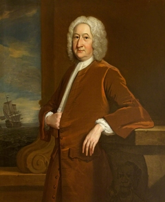An Unknown Man with a Ship at Sea