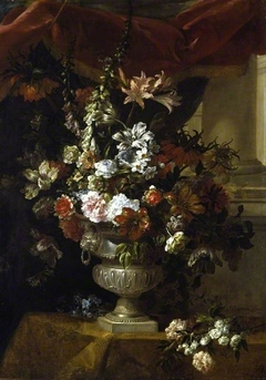 An urn with flowers