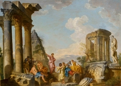 Architectural Capriccio with an Apostle Preaching