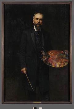 Autoportret z paletą