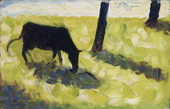 Black Cow in a Meadow