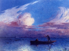 Boating at Night in Brière