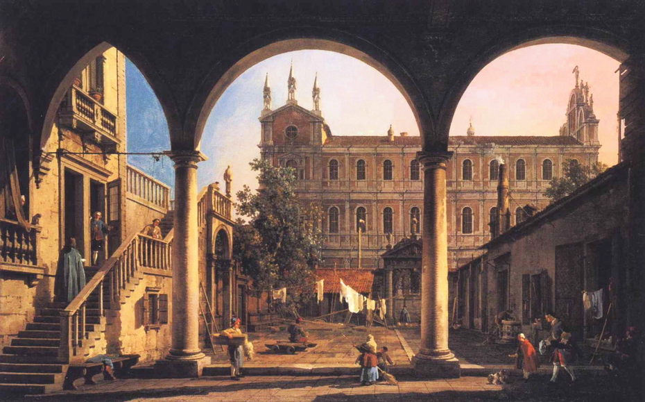 Capriccio of the Scuola di San Marco from the Loggia of the Palazzo Grifalconi-Loredan