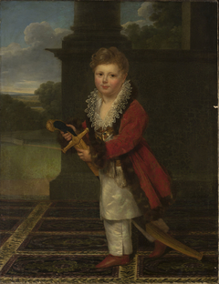 Childhood portrait of Zygmunt Krasiński (1812–1859) in the Polish costume with his father's sword