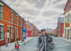 Chimney sweep in Garibaldi St, (2015), oil on linen, 111.5 x 81.5 cm