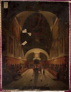Choir in the Capuchin church in Rome