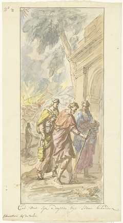 De vlucht van Lot en zijn dochters uit Sodom