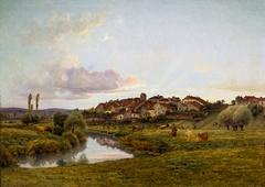 El Sena hacia Lironcourt por la tarde