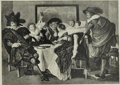 Elegant Company at a Table