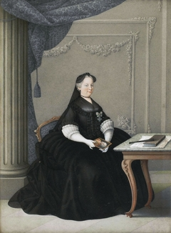 Empress Maria Theresa as a widow with a miniature of Francis I.